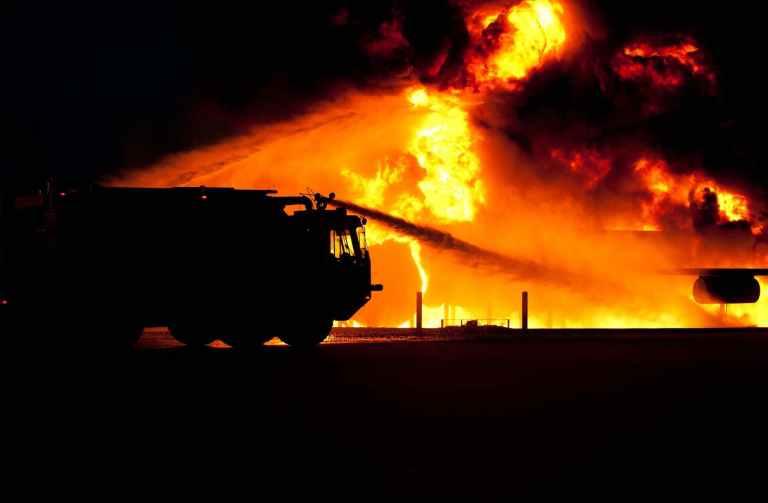 silhouette outside fire dangerous