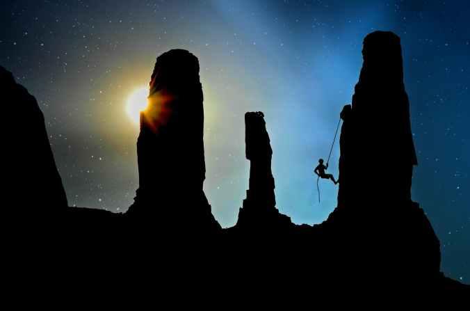 adventure backlit dark dawn