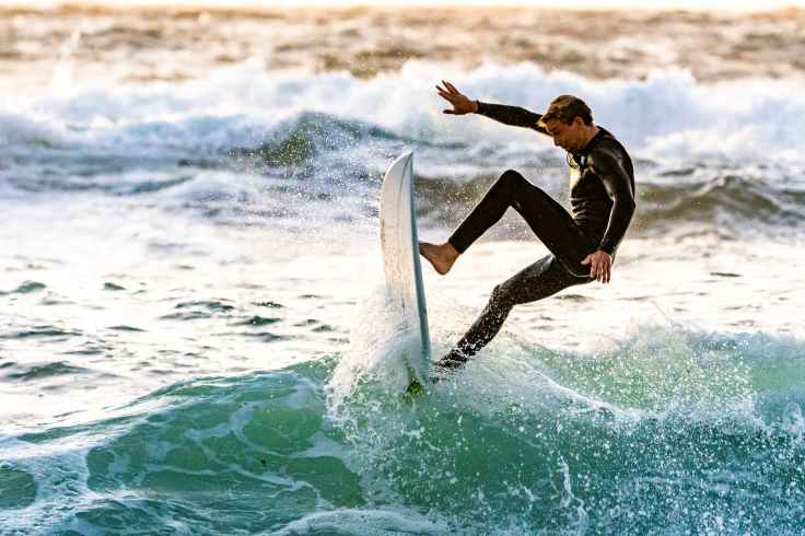 surfer performing tricks