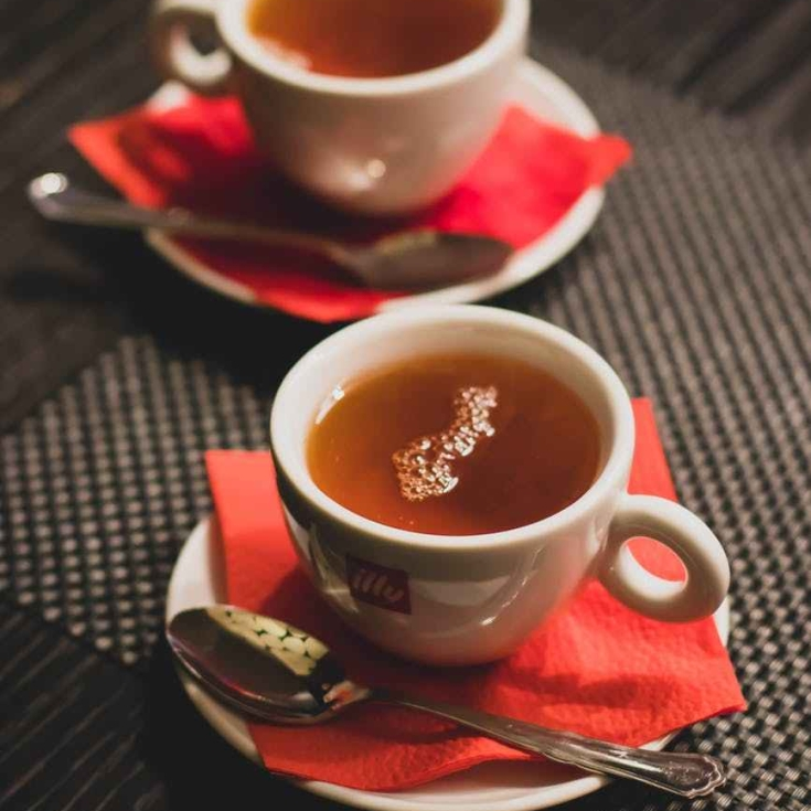 close up photography of teacups