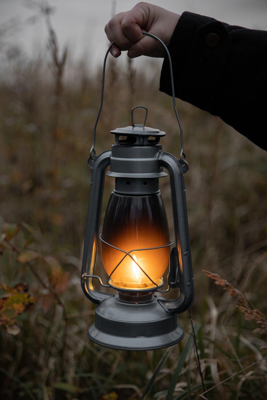 black and gray lantern